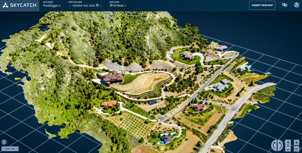 Skycatch viewer 3D mesh