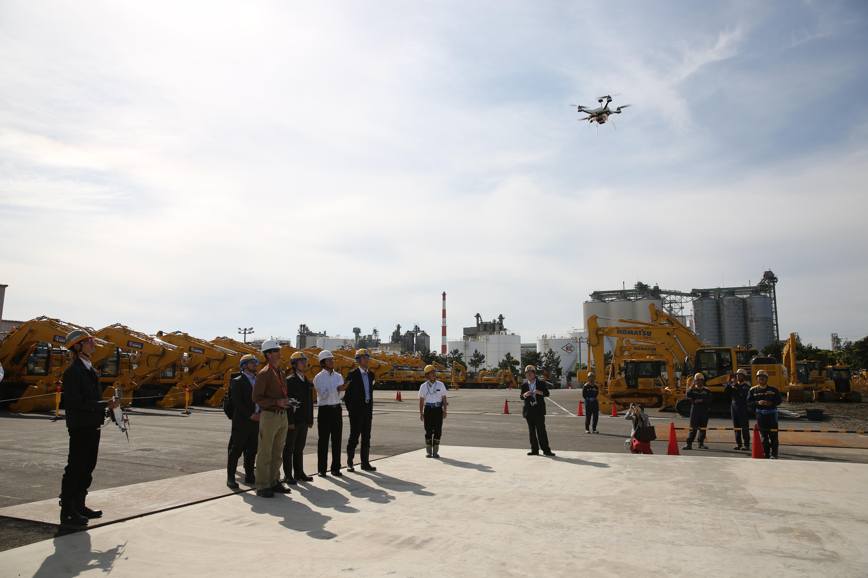 Peter Blake, Skycatch Director of Fleet Ops in Japan at Komatsu Smart Construction job-site