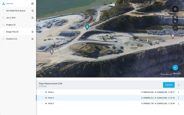 Skycatch Data Hub Analytics Tools for Mining