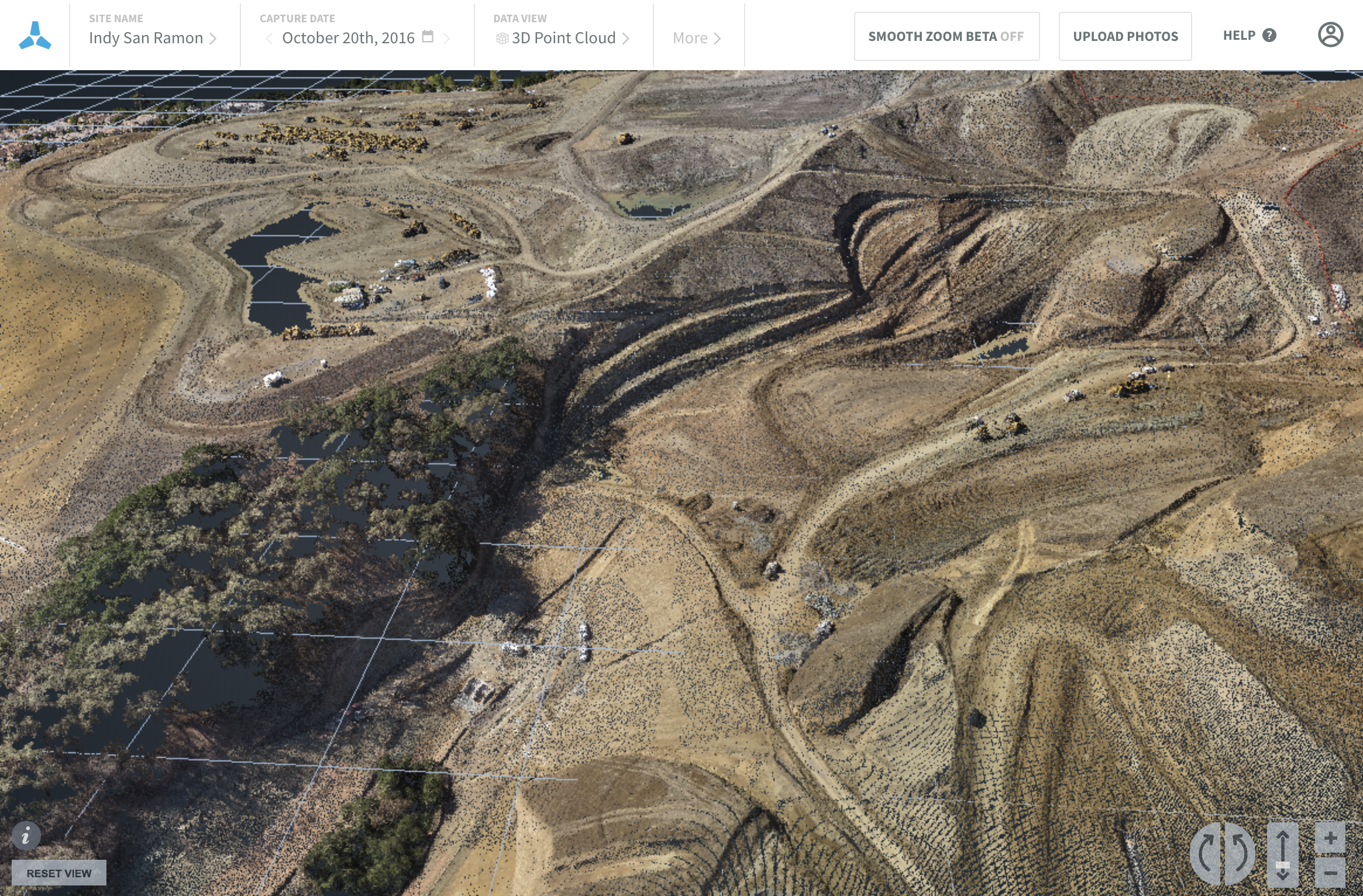 Skycatch precise topographical survey