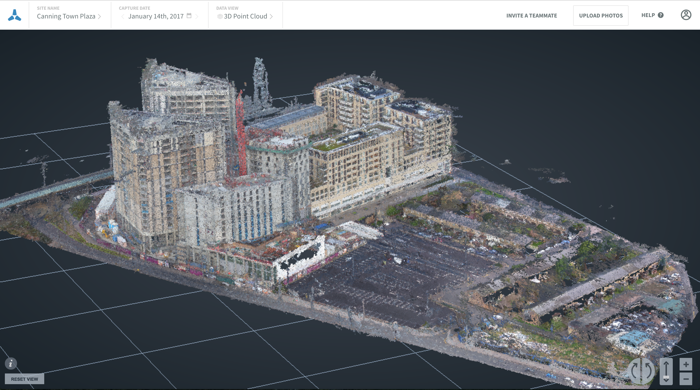 Skycatch Viewer High Accuracy Point Cloud
