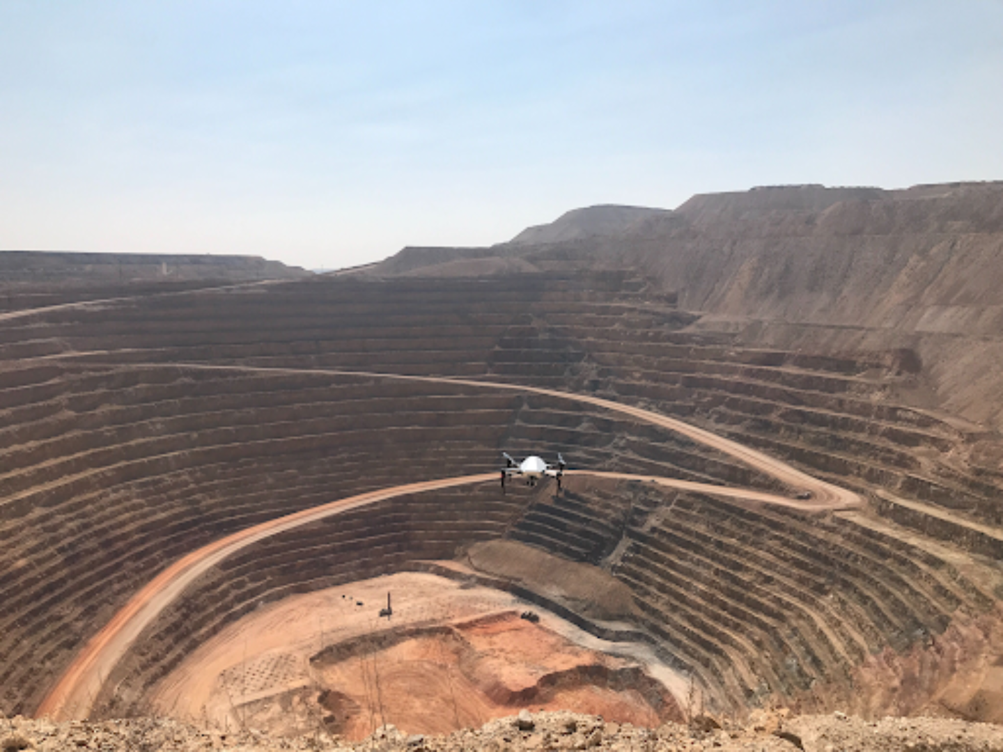 Skycatch Explore1 Drone at an open pit mine